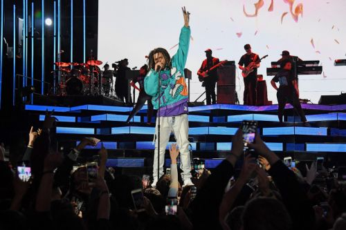 J. Cole Does Charlotte Proud During NBA All-Star Game Halftime Show
