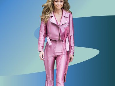 Gigi Hadid Wears Head-To-Toe Millennial Pink & If Loving Her Outfit Is Wrong, We Don't Want To Be Right