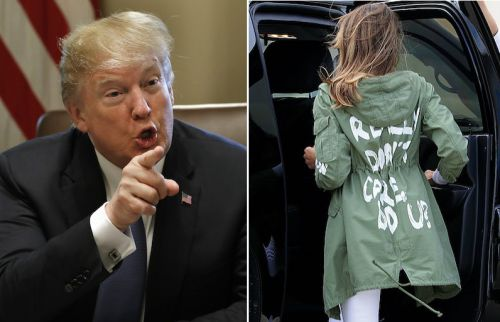 "Donald Trump Says Melania Trump's ""I Really Don't Care"" Jacket Was Actually Intentional"