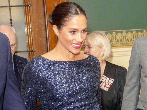 Meghan Markle Wore Hollywood's 1 Red Carpet Shoes With a Glittery Gown