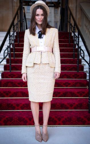 Keira Knightley Wore Princess Diana's Signature Outfit to Buckingham Palace