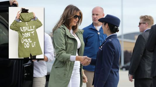 """Melania Trump Seemingly Wore a Jacket That Says """"I Really Don't Care"""" to Visit Immigrant Kids"""