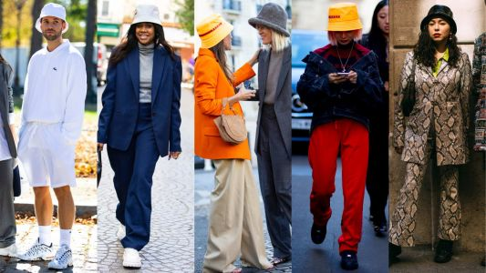 Bucket Hats Are Officially 'A Thing,' According to the Street Style on Day 2 of Paris Fashion Week