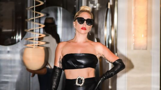 Lady Gaga Puts Her Killer Abs in the Spotlight While Wearing a Sexy Leather Outfit in NYC