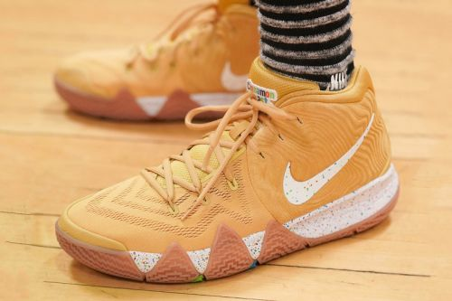 "Nike Kyrie 4 ""Cinnamon Toast Crunch"" Makes a Sweet On-Foot Debut"