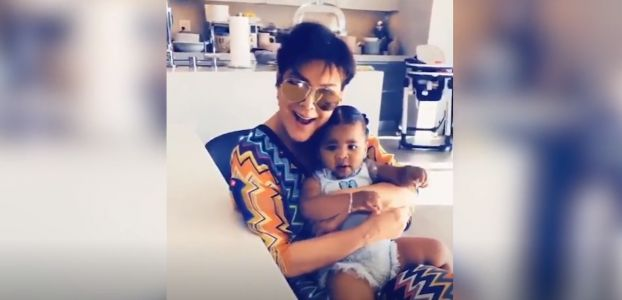 Kris Jenner Cuddles Her 'Heart' True Thompson in Precious New Video