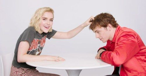 Chilling Adventures of Sabrina Stars Kiernan Shipka and Ross