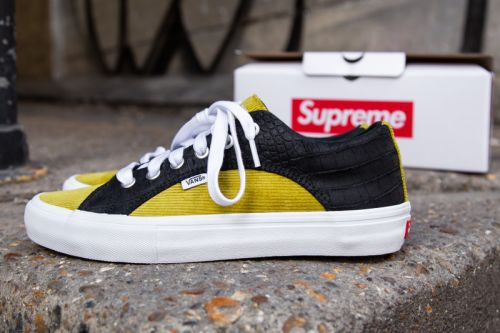A Closer Look at Supreme's Multi-Textured Vans Collaboration