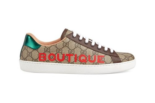 "Gucci Drops Logo-Printed GG Ace ""Boutique"""