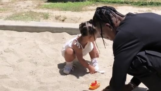 Kylie Jenner, Travis Scott and Baby Stormi Enjoy Their 'Friyay' at the Park!