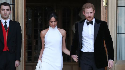 Meghan Markle Wears Bespoke Stella McCartney to Her and Prince Harry's Evening Wedding Reception