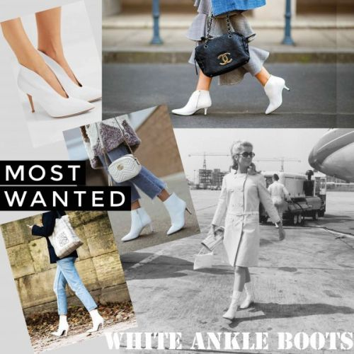Trending F/W 2018: White Ankle Boots