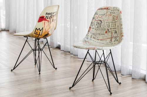 Advent Calendar Day 12: Jean-Michel Basquiat x Modernica Case Study Side Shell Eiffel Chair
