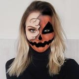 These Half-Face Halloween Makeup Ideas Are Drop-Dead Gorgeous