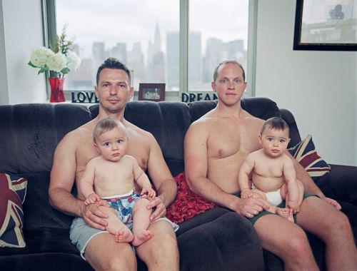 These poignant portraits depict gay men's experiences of fatherhood