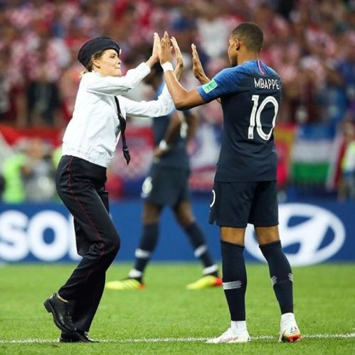 Pussy Riot invaded the pitch at the World Cup final