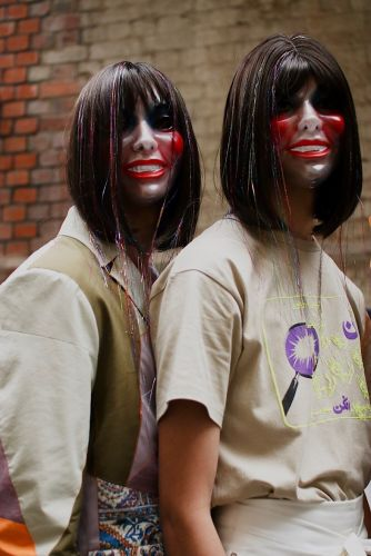 Zombie eyes, creepy masks and blood: the horror of LFW Men's SS20 beauty