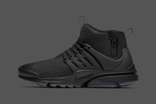 "The Nike Air Presto Mid Utility Goes ""Triple Black"""