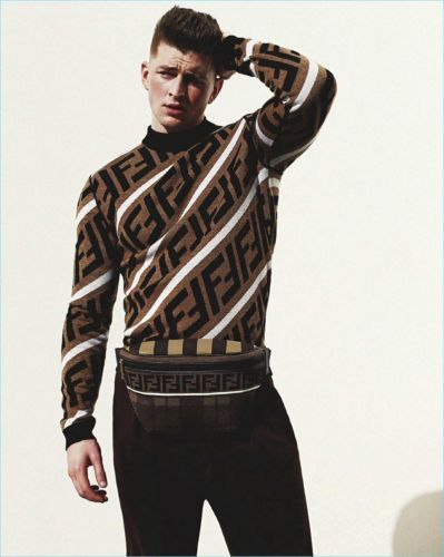The F Word: Michael Morgan Rocks Fendi for GQ Australia