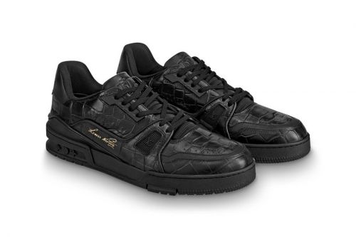 Louis Vuitton Drops LV Trainer Imagined With a Glossy Alligator Treatment