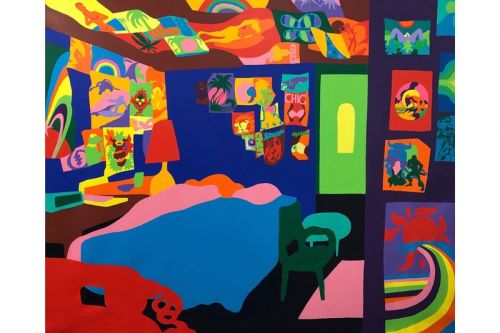 Todd James Paints Intensely-Saturated Interiors for Upcoming LA Exhibition