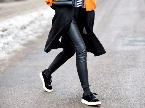 The Best Faux-Leather Leggings of the Season