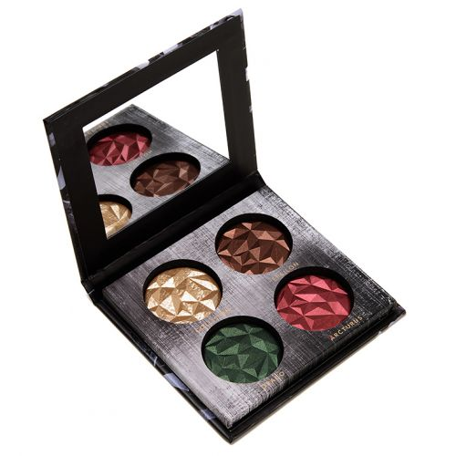 Linda Hallberg Metallic Mysteries II Eyeshadow Quad Review & Swatches