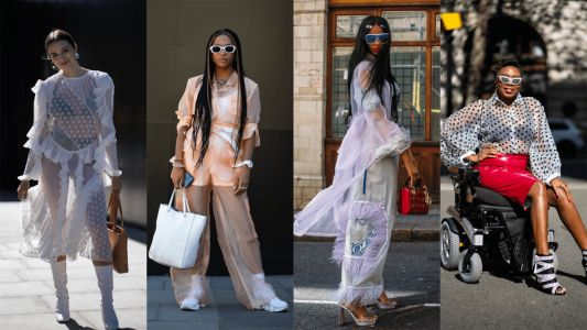 Sheer Garments Were a Street Style Hit on Day 5 of London Fashion Week
