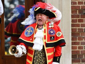 So, What's Really The Deal With The Town Crier Outside The Lindo Wing?