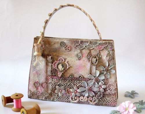 Altered Shabby-Chic Bag by Guest Artist Giovanna Zara