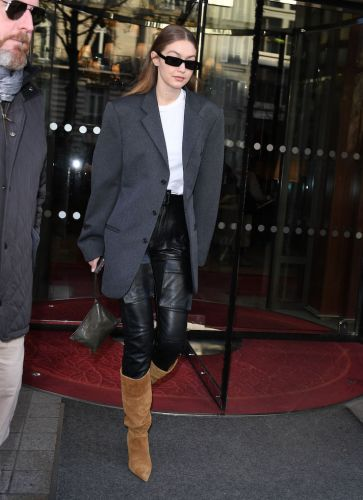 Gigi Hadid's Oversized Blazer and Leather Pants Look Is the Only Outfit That Matters to Me Right Now