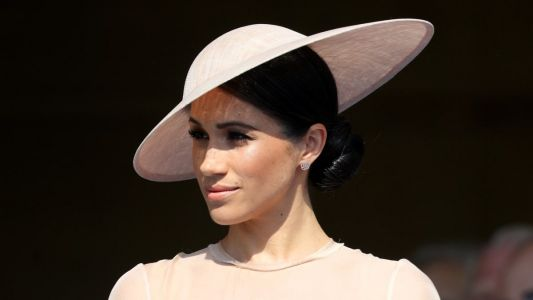 Meghan Markle Wore a Thing: Blush Goat Pencil Dress Edition